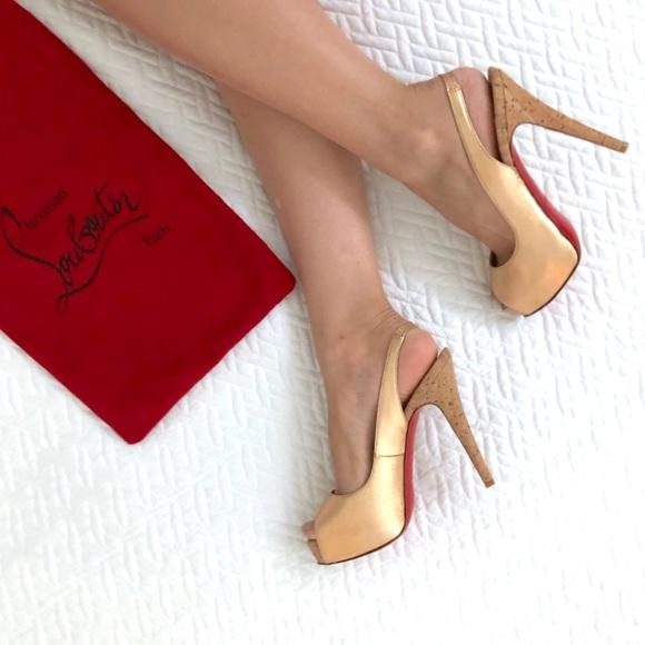 5d7532bd1d1 Never worn Christian Louboutin rose gold shoes 36